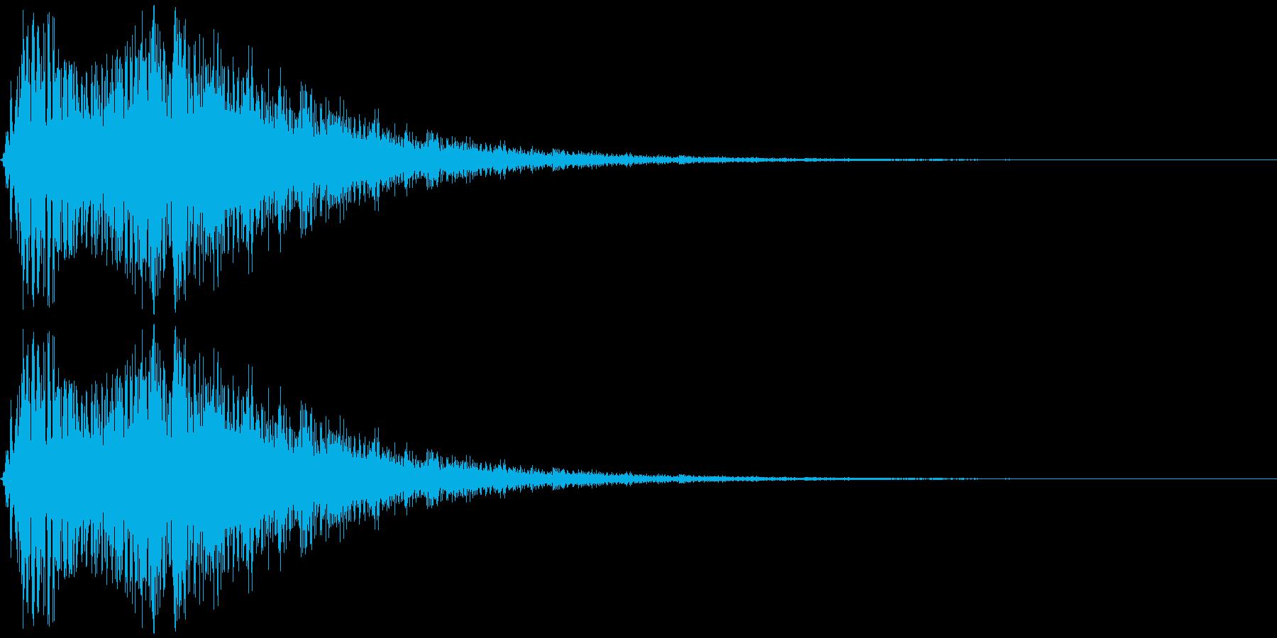 「光」「輝く」などをイメージした擬音で…の再生済みの波形