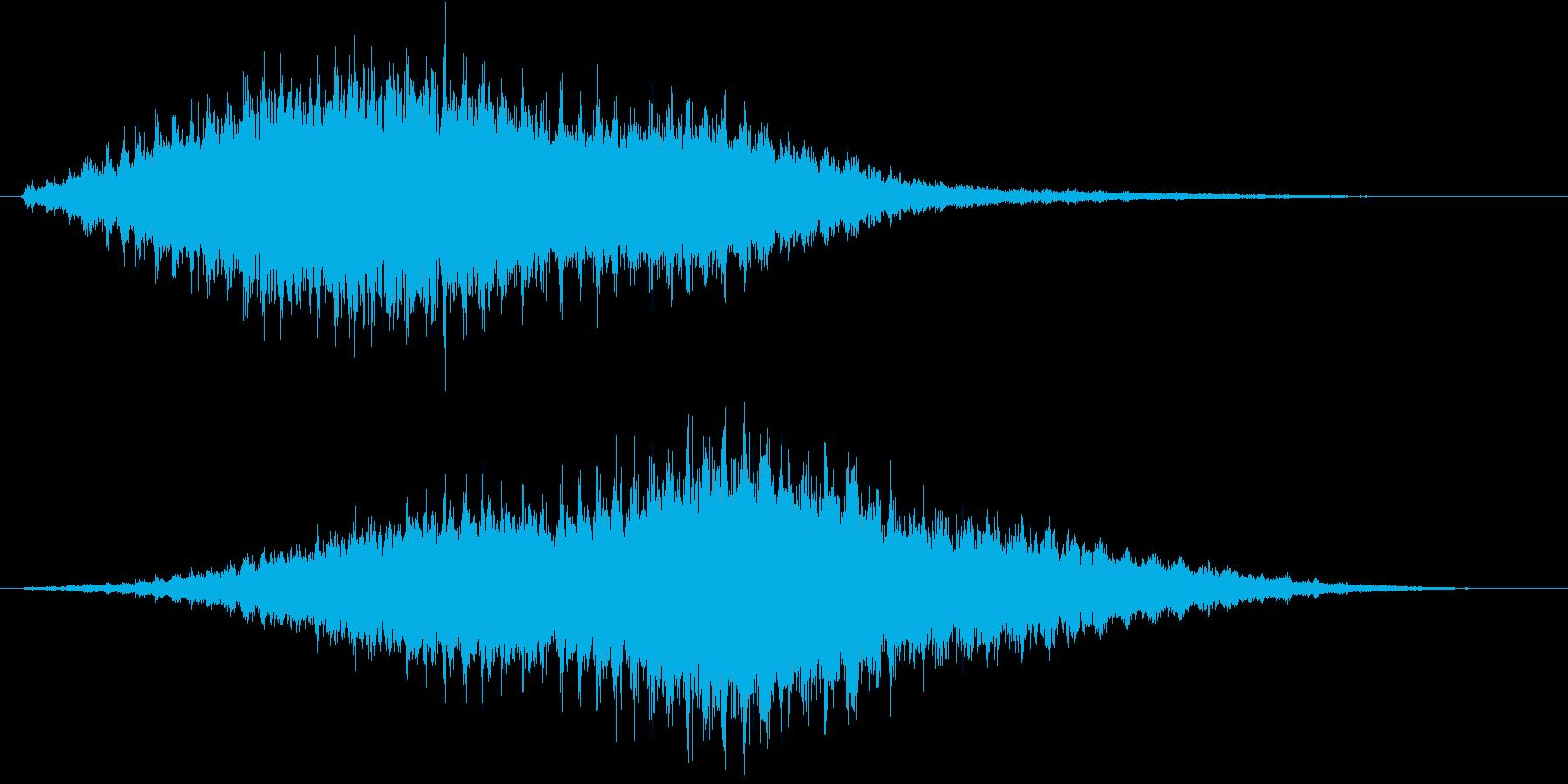 音侍SE「フルフル〜」重めな振り鈴L-Rの再生済みの波形