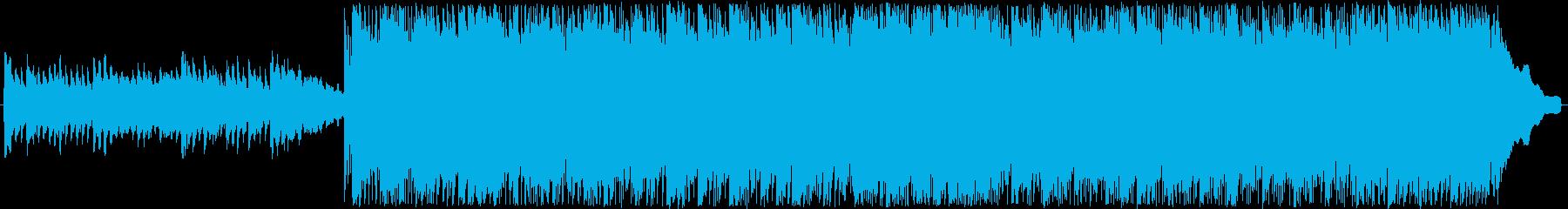 ロック調のバトル曲の再生済みの波形