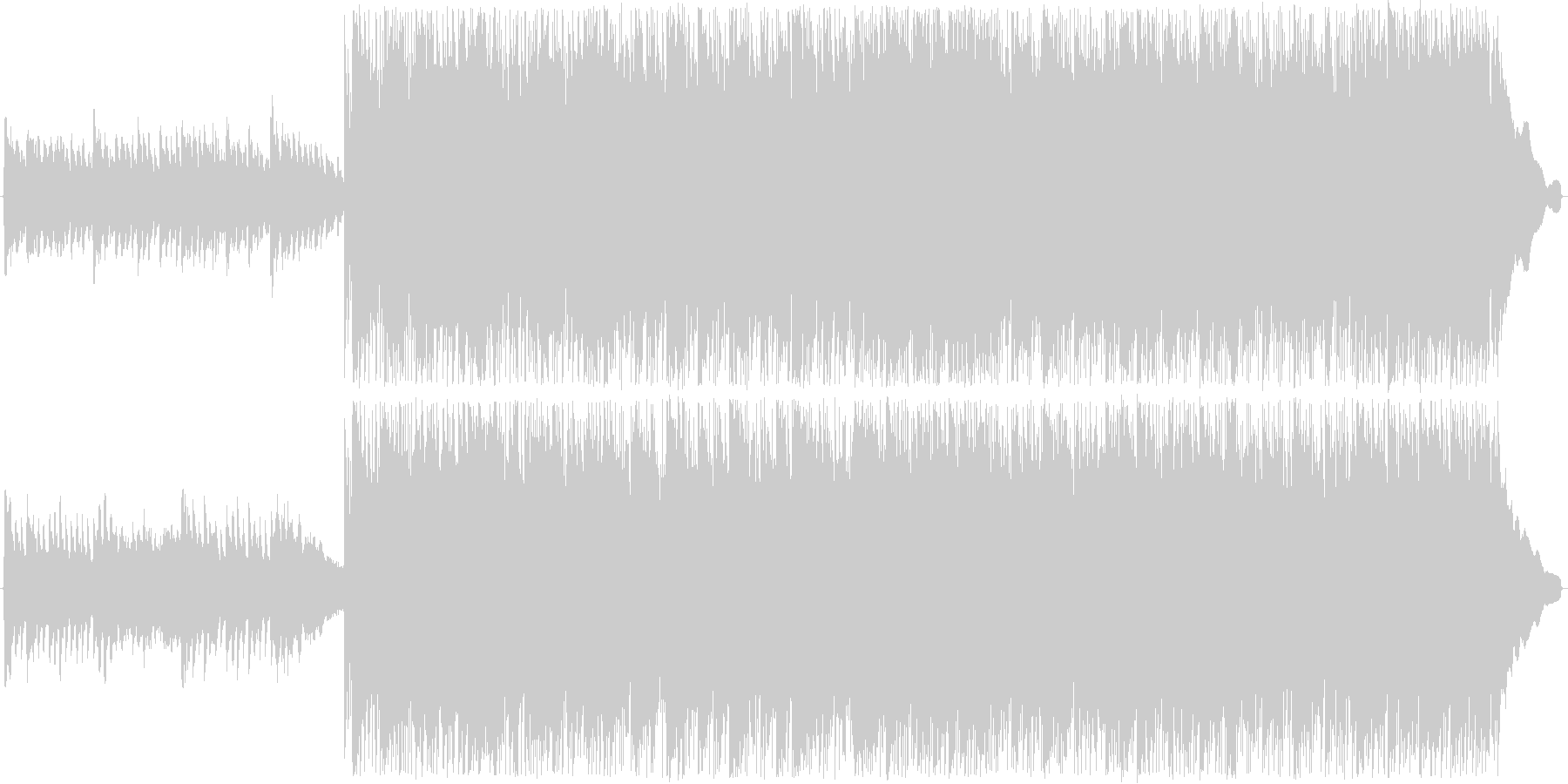 ロック調のバトル曲の未再生の波形