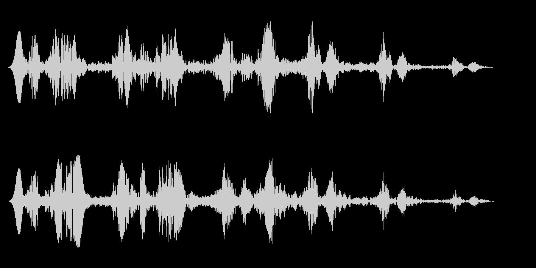 コミカル飛行音キュワワの未再生の波形