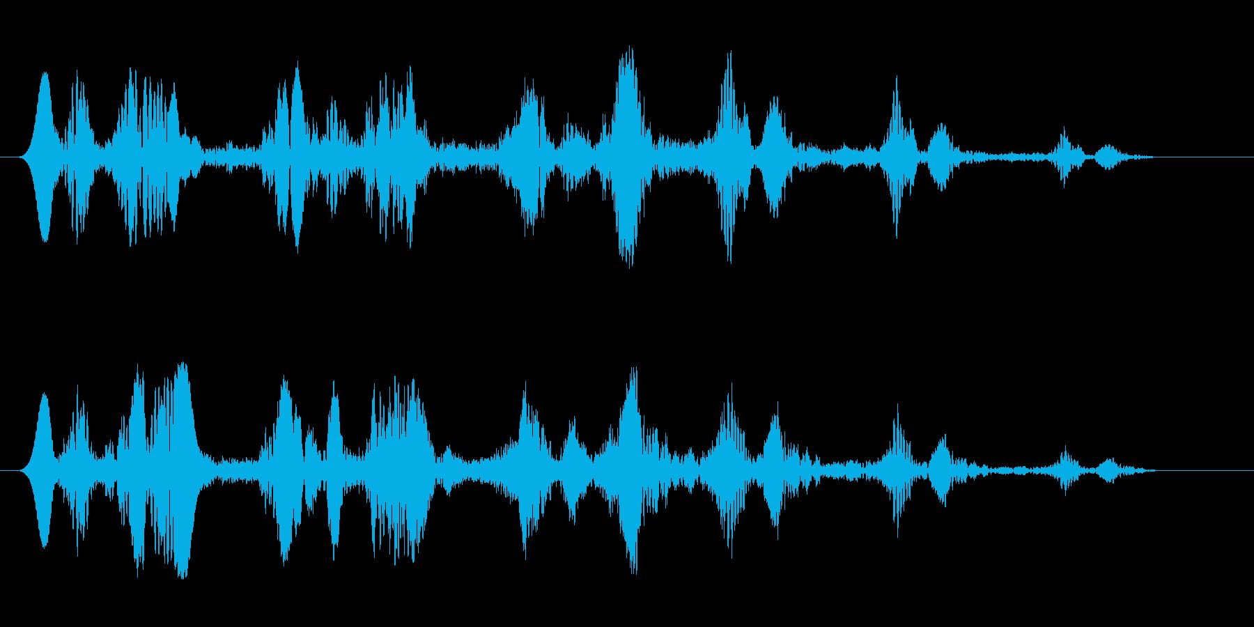 コミカル飛行音キュワワの再生済みの波形