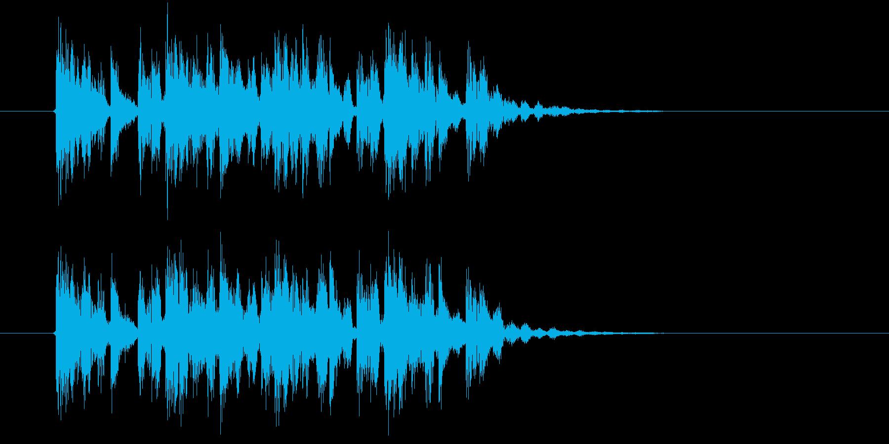 アップテンポなテクノポップスの再生済みの波形