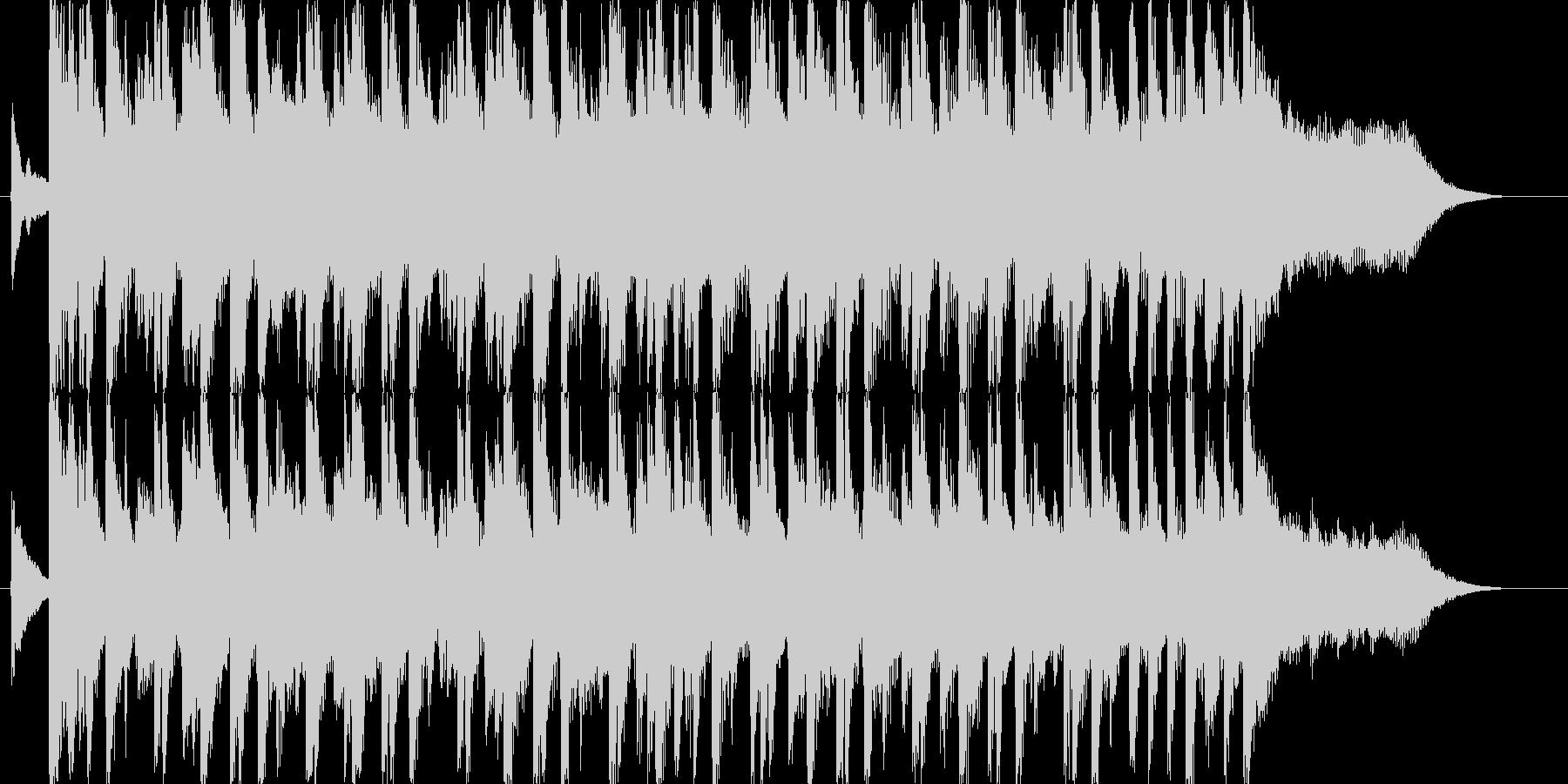 ニュース番組のオープニング風の未再生の波形