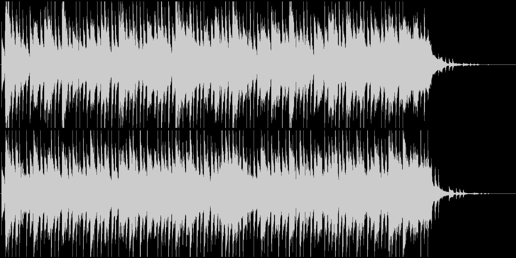 サックスのラジオジングルの未再生の波形