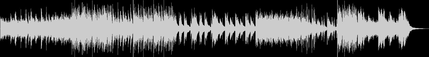 幻想的で不思議なピアノエレクトロニカの未再生の波形