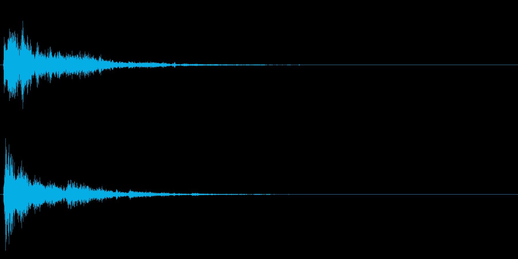 シュワワワ・・・の再生済みの波形