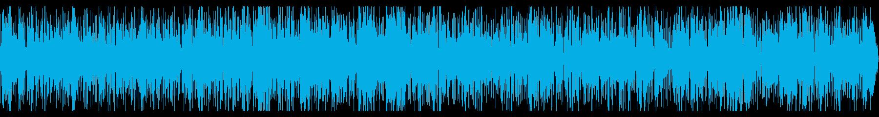 サックスメロディの元気なジャズインストの再生済みの波形