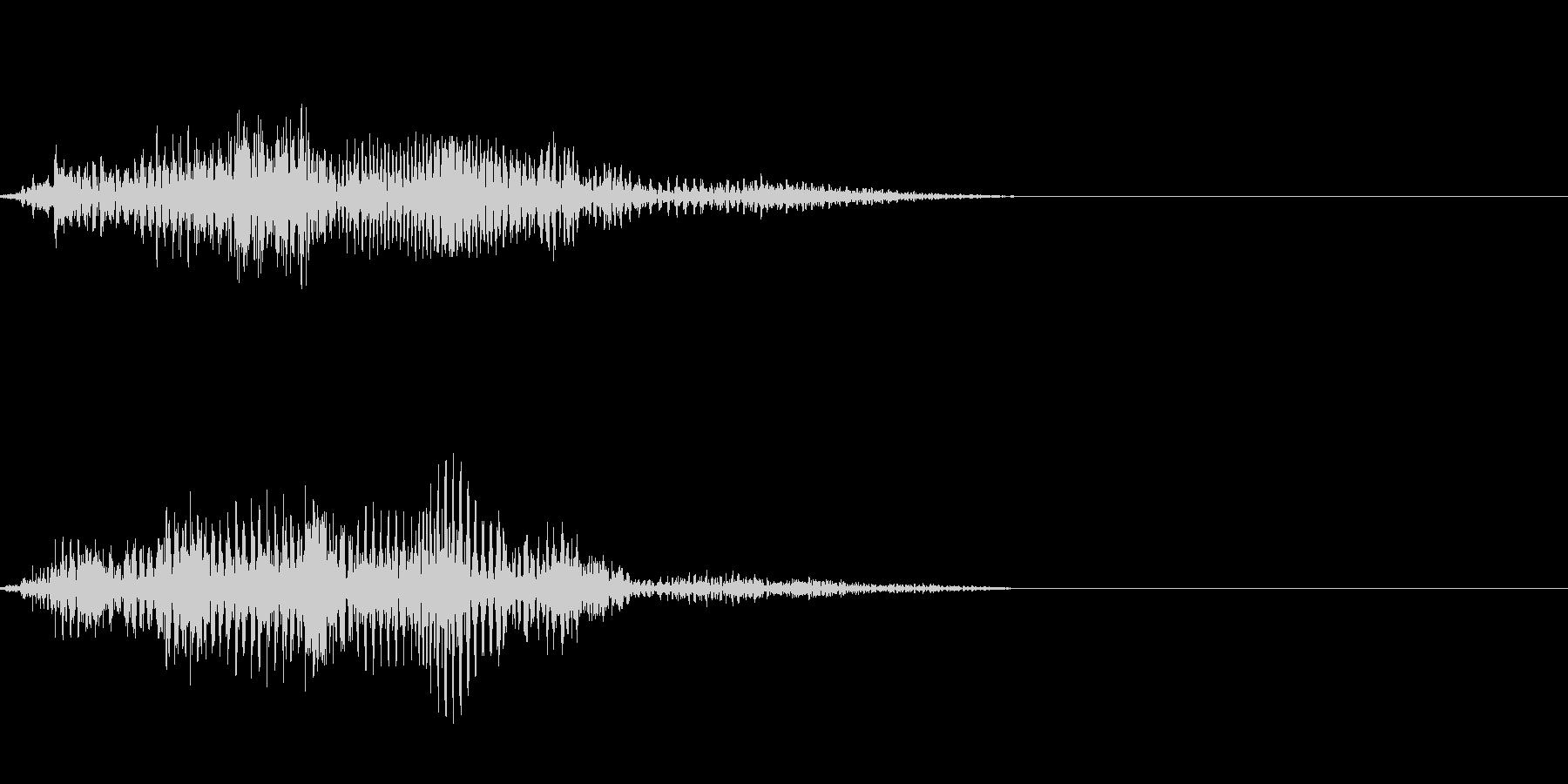 エイリアンの発声などに 2の未再生の波形