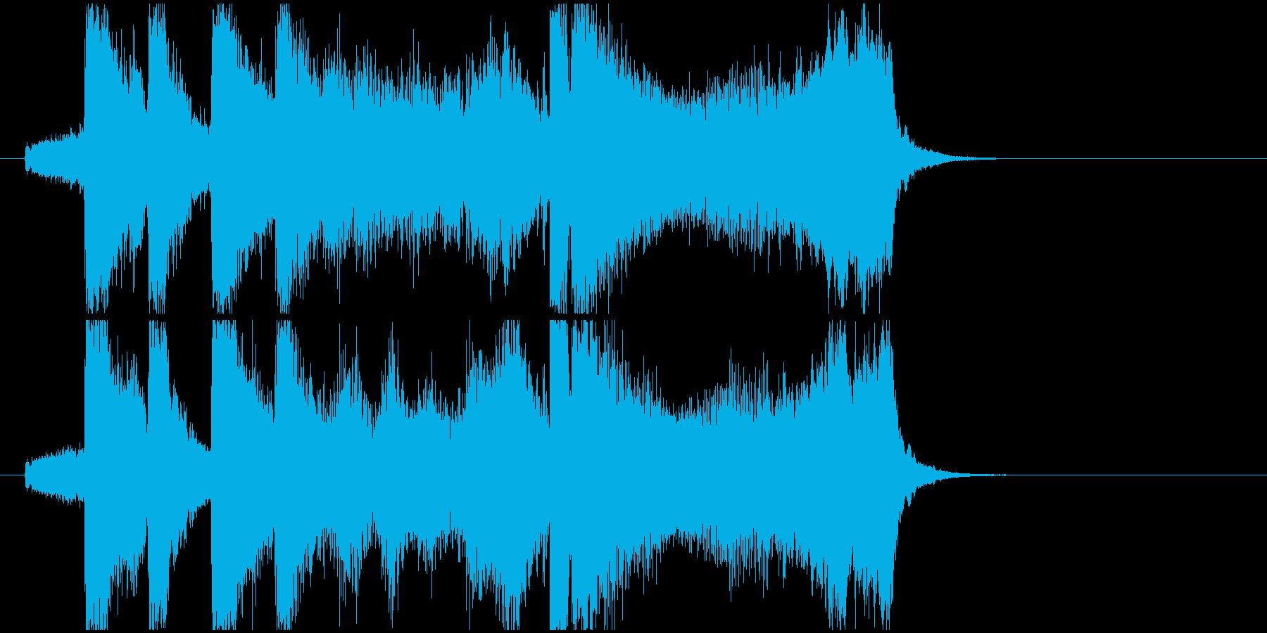 オープニング、登場、入場ジングルの再生済みの波形