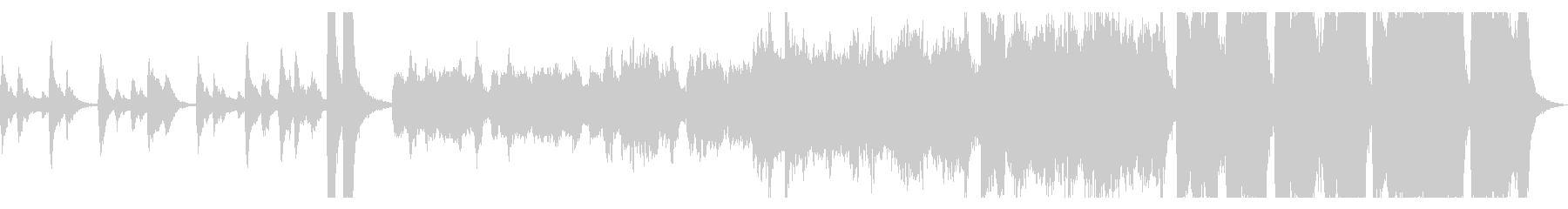 ハロウィン幽霊屋敷イメージのオケ曲ループの未再生の波形