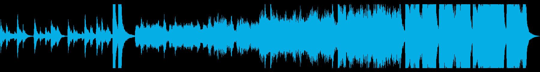 ハロウィン幽霊屋敷イメージのオケ曲ループの再生済みの波形