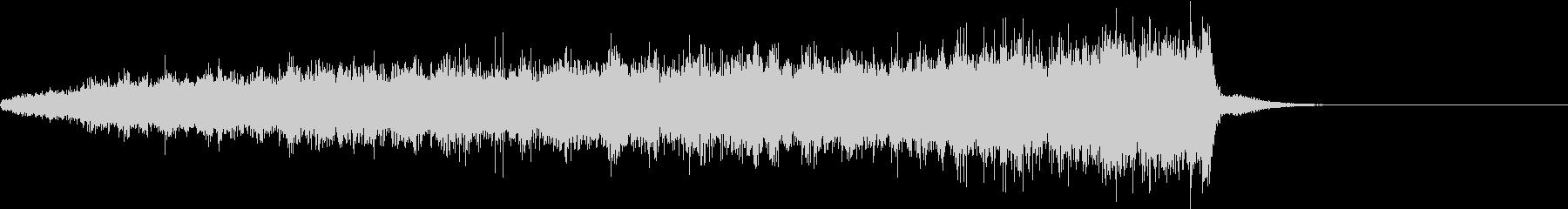 ビューン(EDMによくある上昇音)の未再生の波形