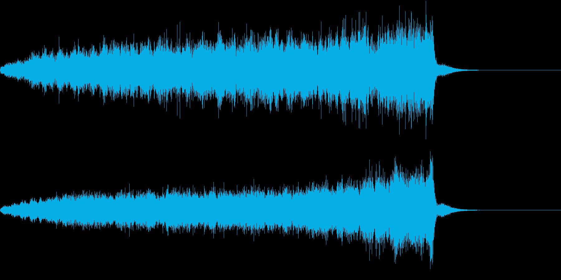 ビューン(EDMによくある上昇音)の再生済みの波形