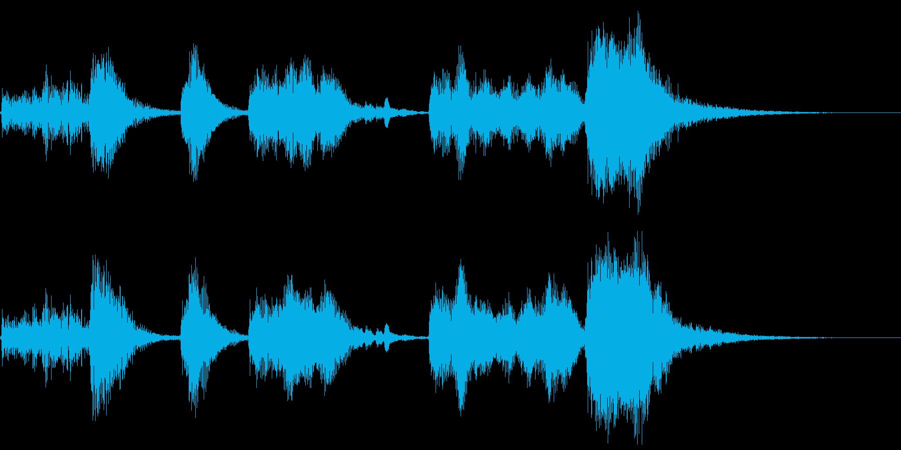 ハロウィン系ジングル1の再生済みの波形