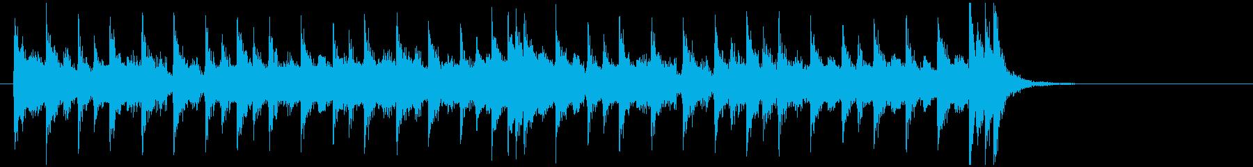 エレキギターがメインの8ビートのジングルの再生済みの波形