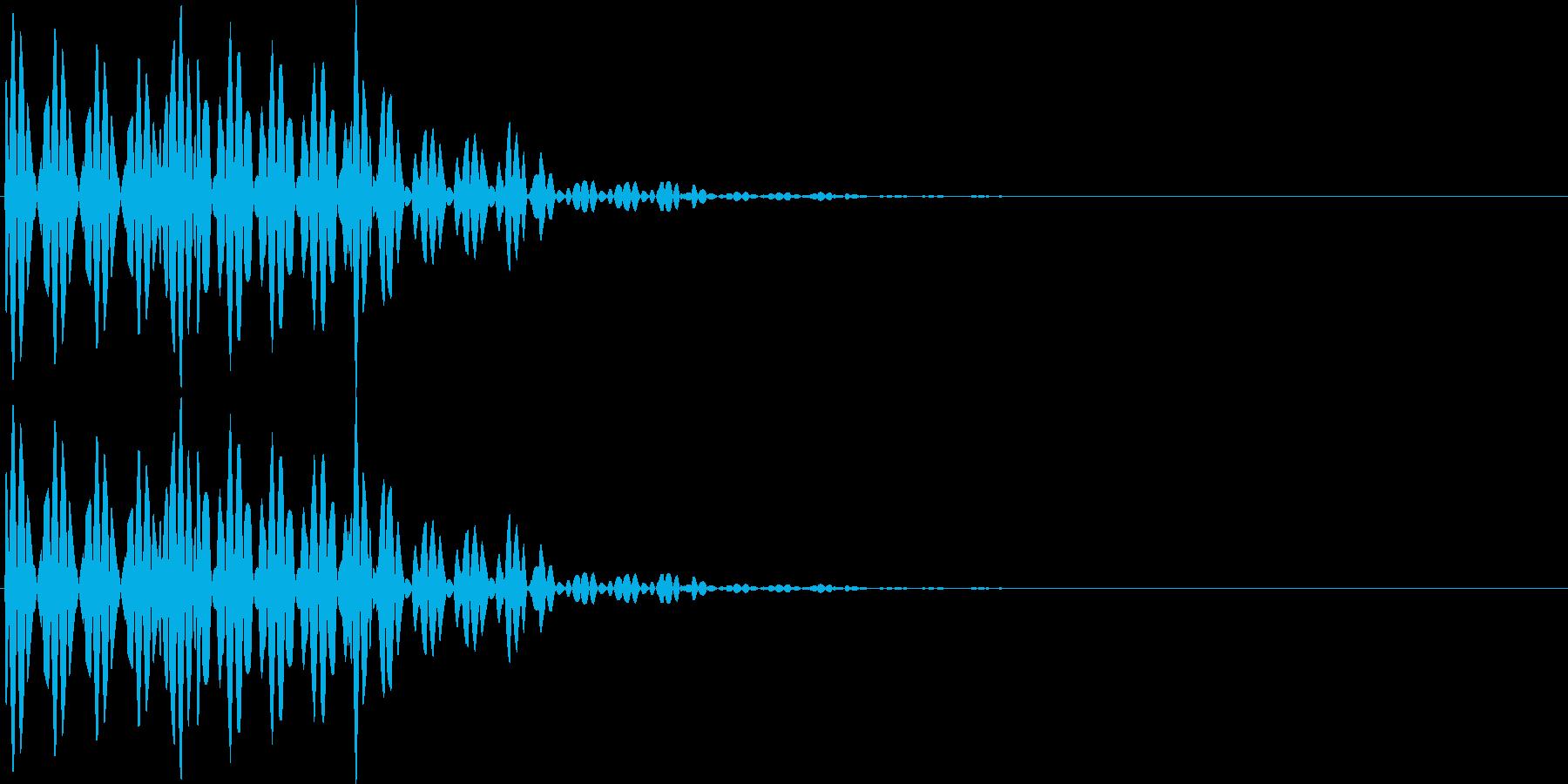 ブブ(キャンセル、間違い、バツ)の再生済みの波形