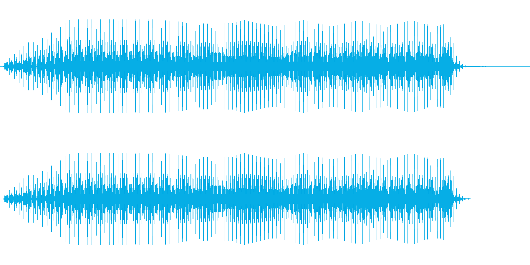 ブーン(単音で徐々に音程が上がる効果音)の再生済みの波形