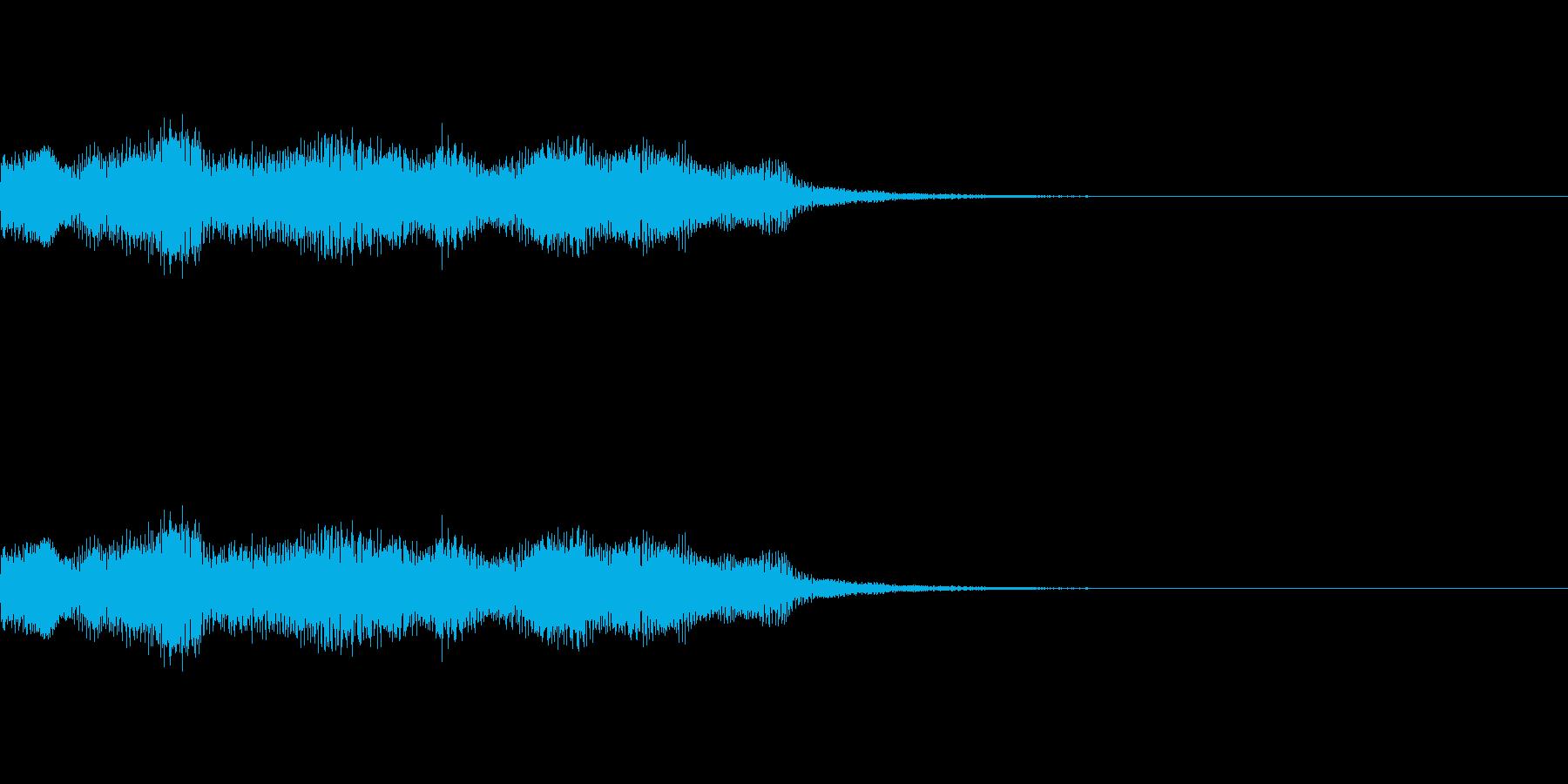 ミッションクリアジングル レトロゲーム風の再生済みの波形