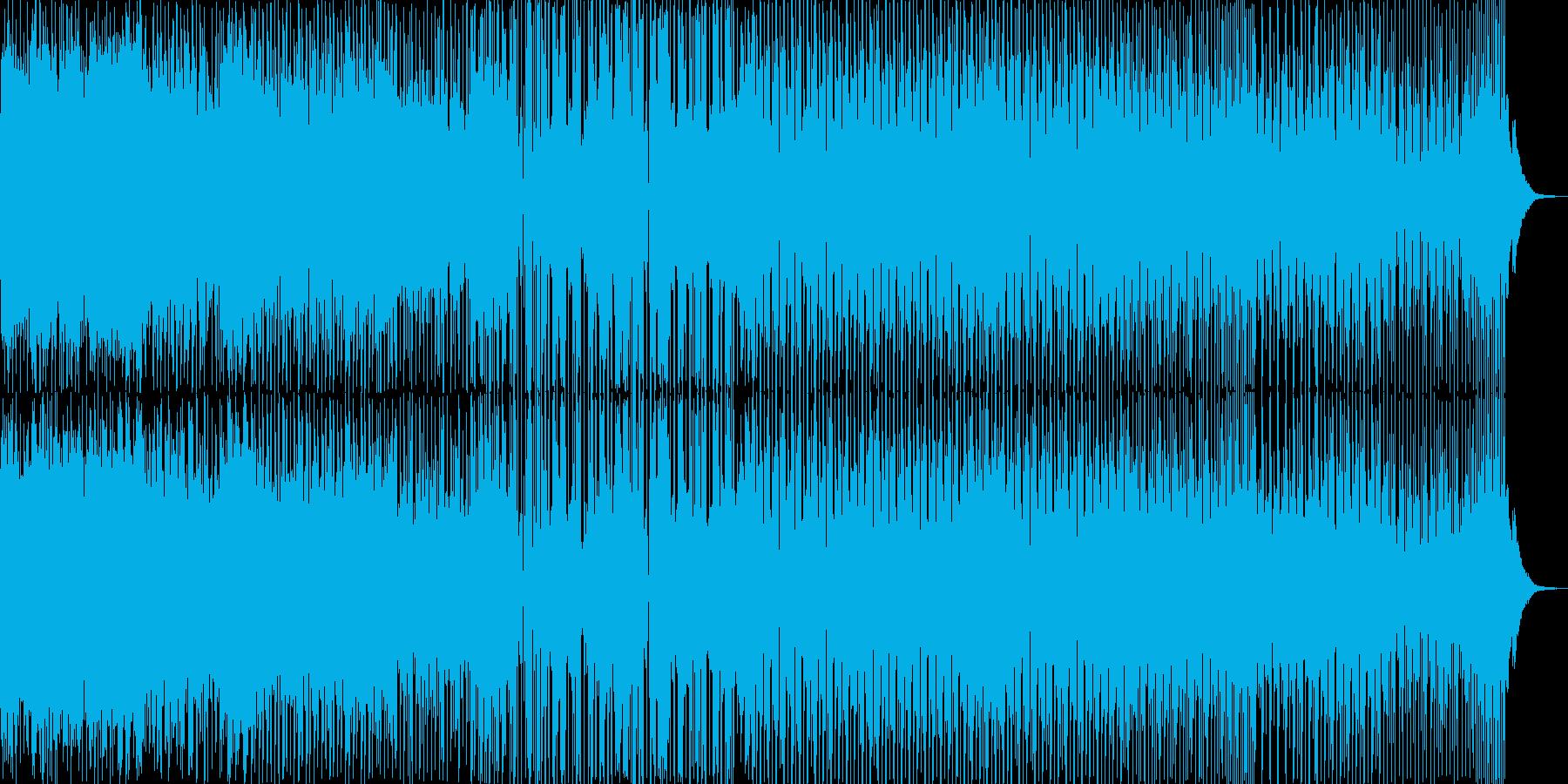 シンセ主体のクールなダンストラックの再生済みの波形