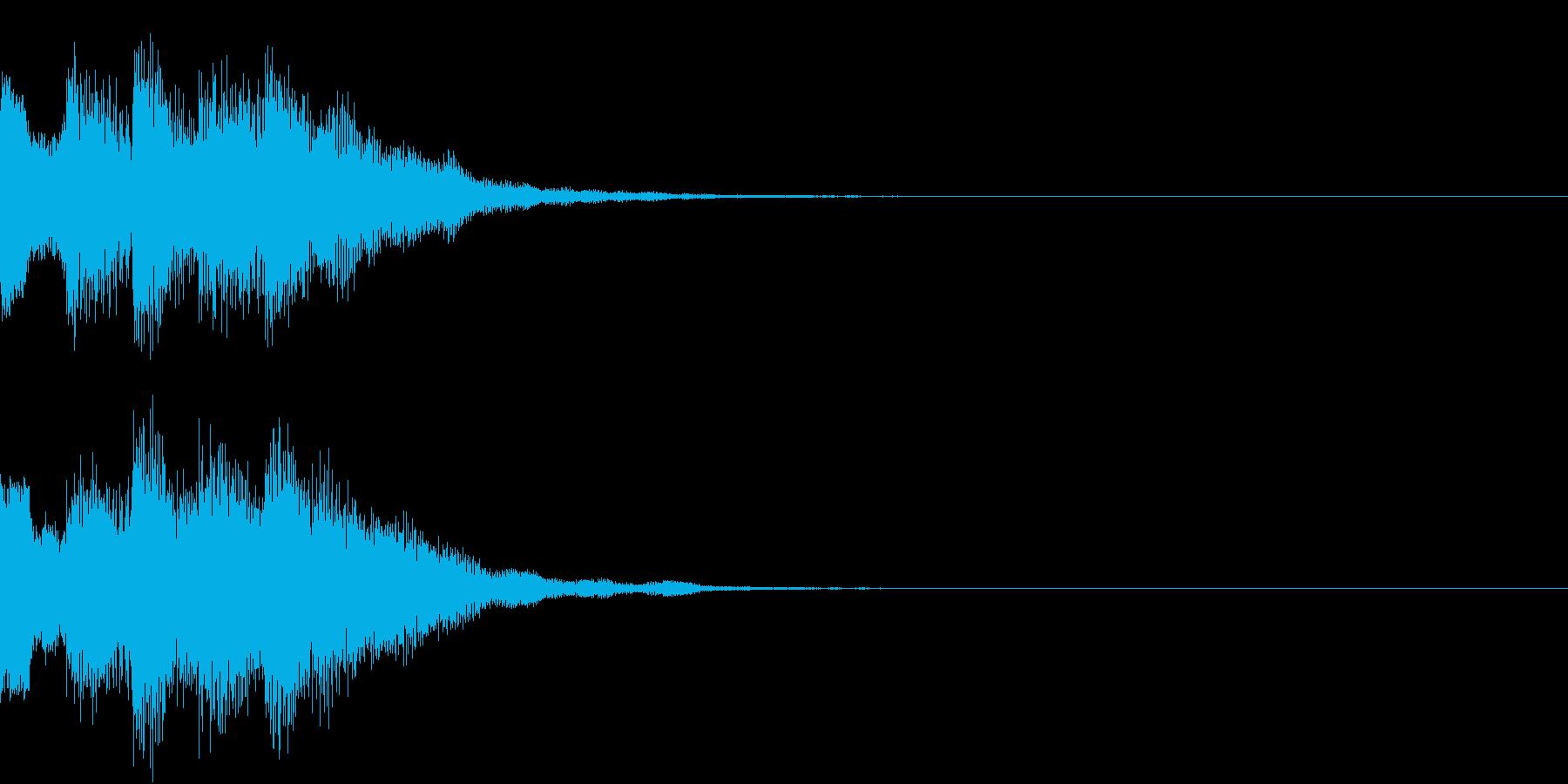 ダウン チャララン 下がる 変身 3の再生済みの波形