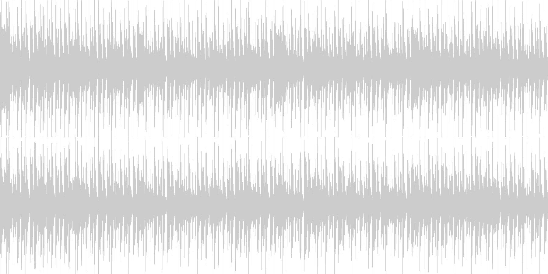 4つ打ち+ラテンのダンスナンバーの未再生の波形