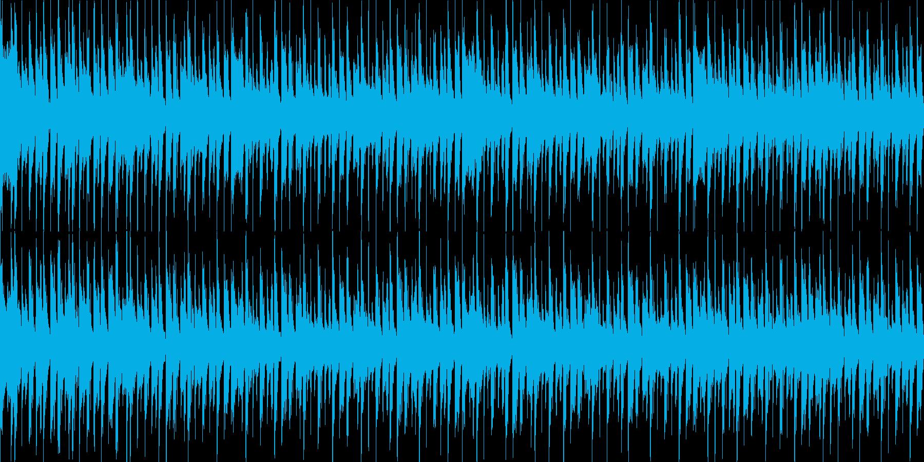 4つ打ち+ラテンのダンスナンバーの再生済みの波形