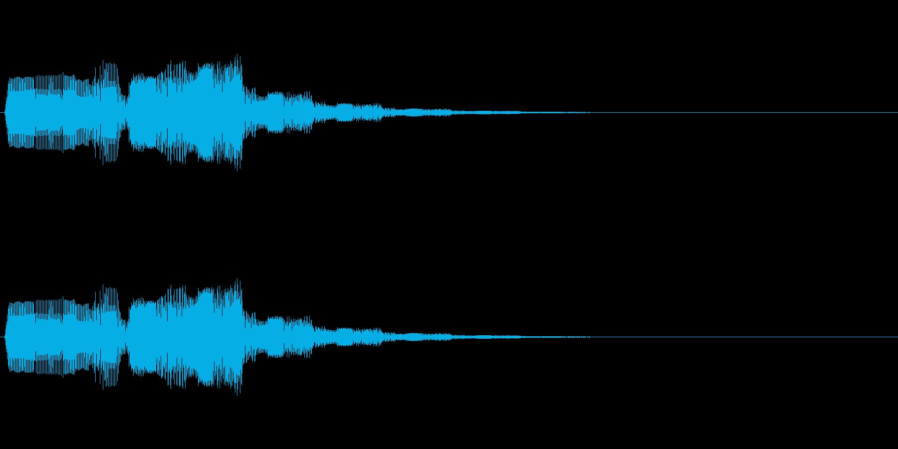「警告」「アラーム」「お知らせ」の再生済みの波形