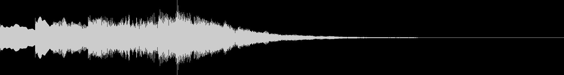 シンセのベル音を使ったシンプルなジングルの未再生の波形