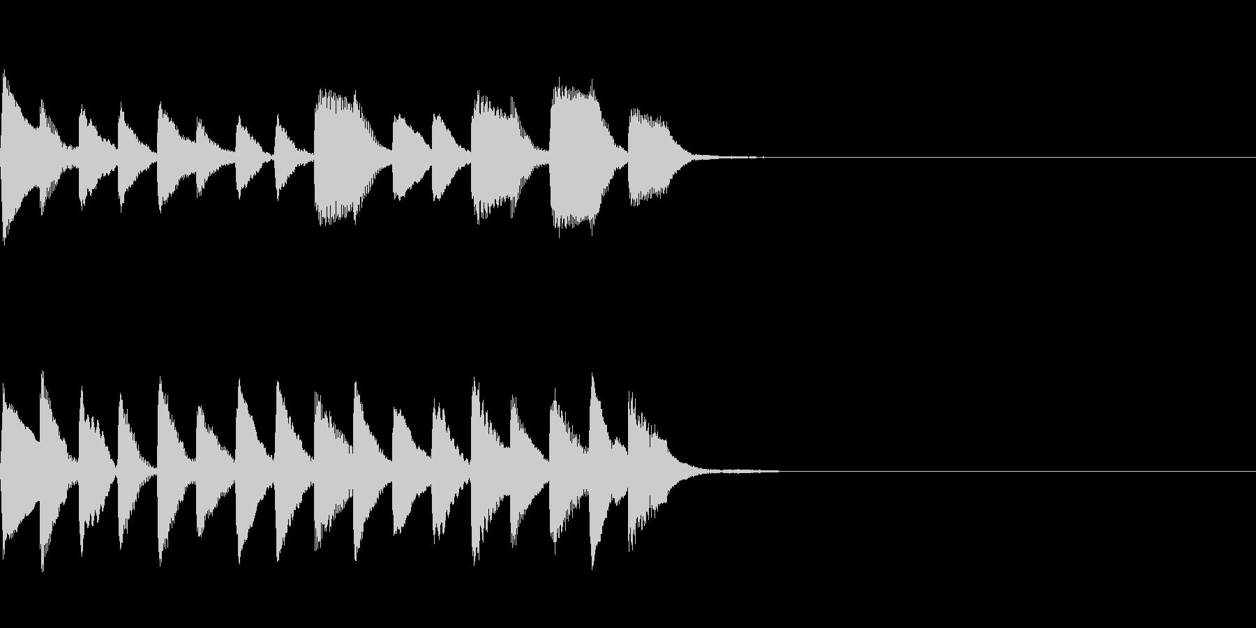 入店音~ヴィブラフォン~の未再生の波形