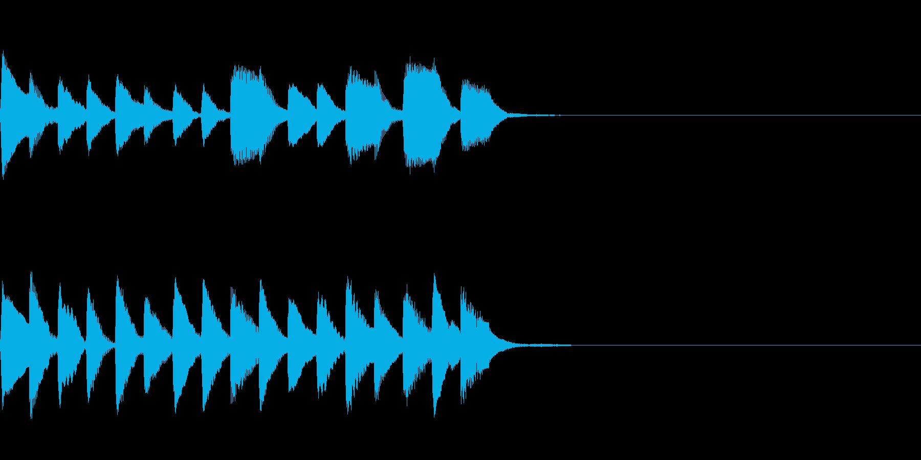 入店音~ヴィブラフォン~の再生済みの波形