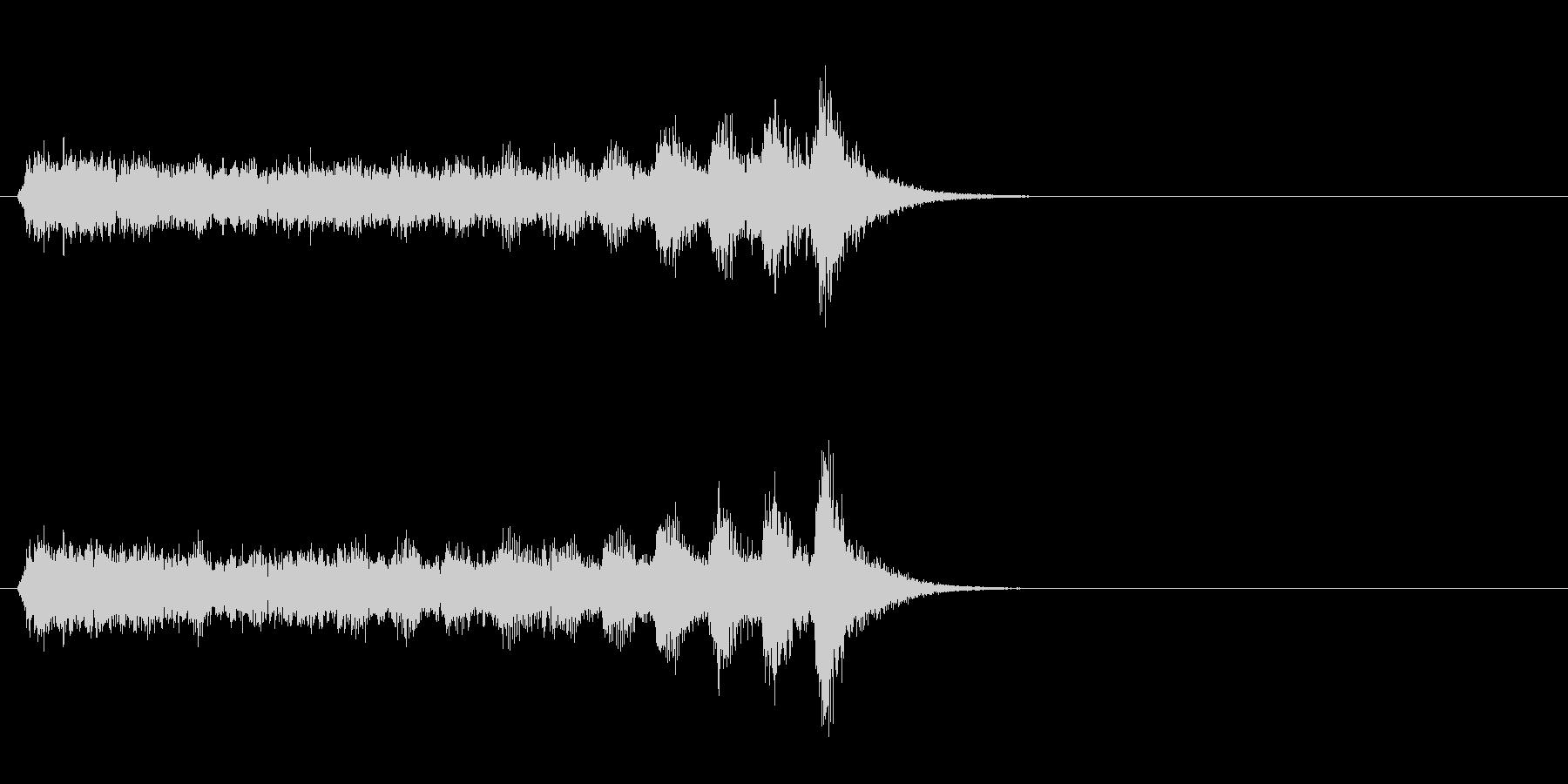 ジングル(ミステリー風)の未再生の波形