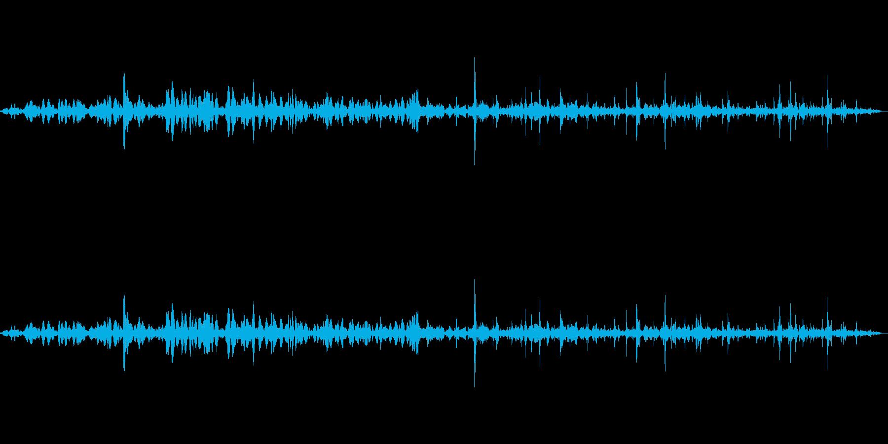 鍋を煮込む音の再生済みの波形