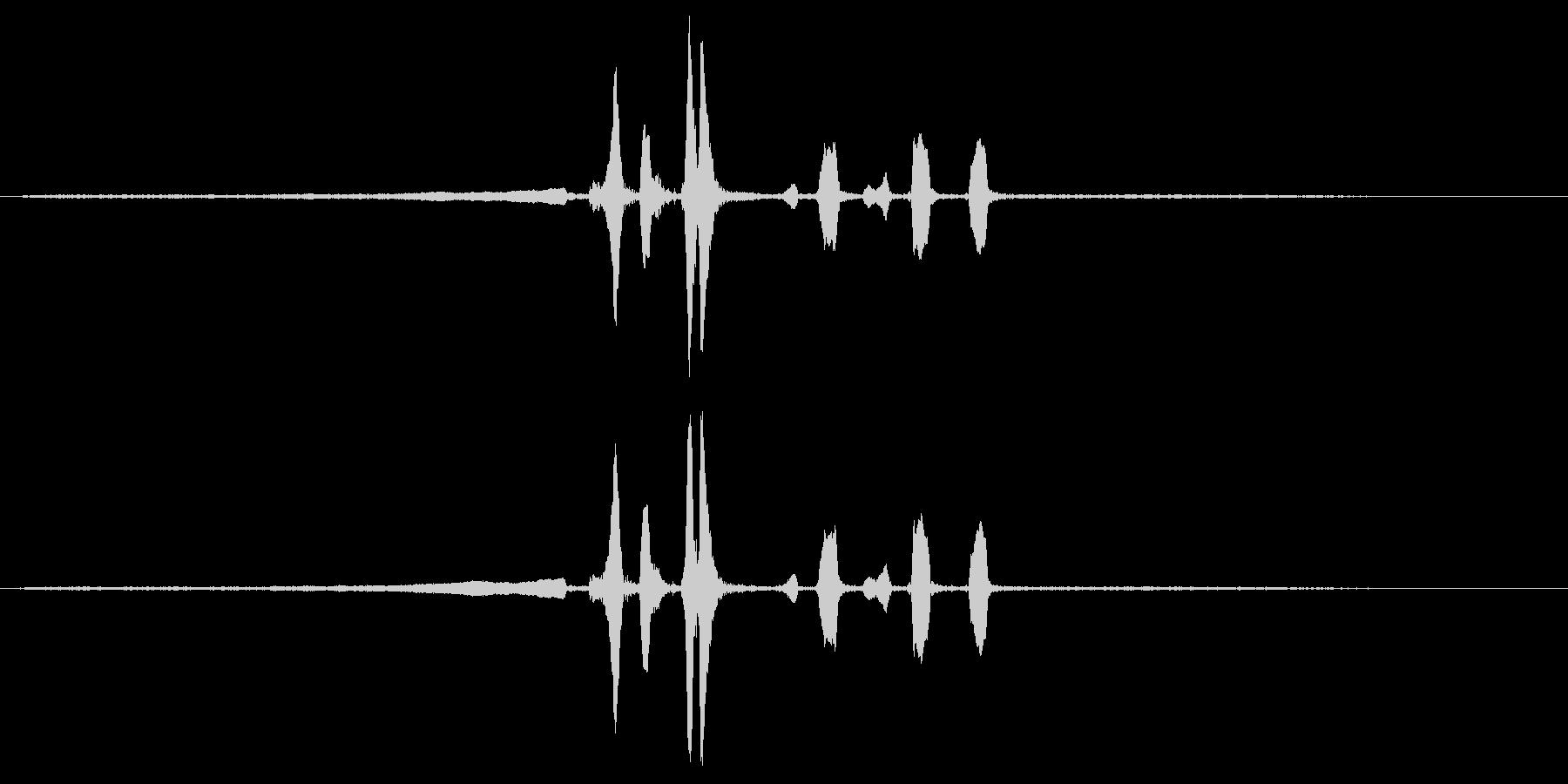 ウグイスの鳴き声の未再生の波形
