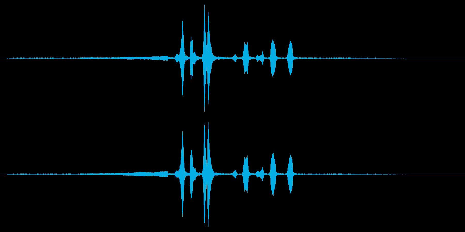 ウグイスの鳴き声の再生済みの波形