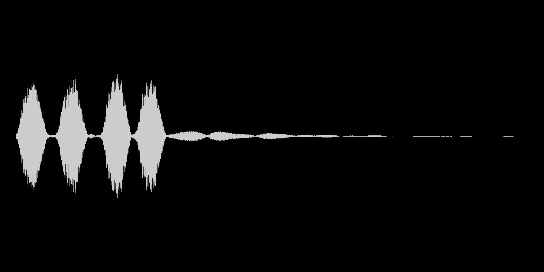 短い台詞音,アイコン連続表示の未再生の波形