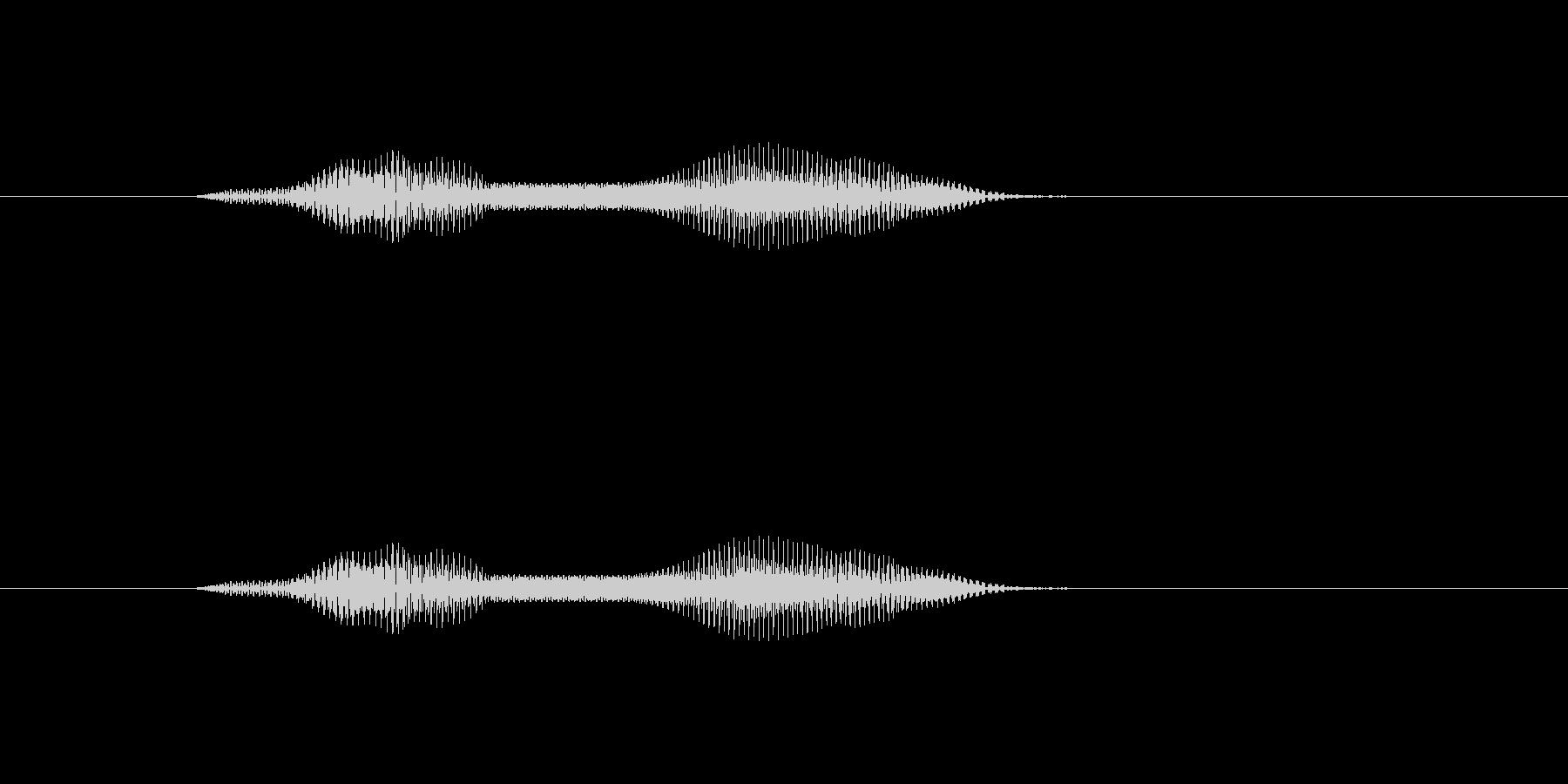 もにゅっの未再生の波形