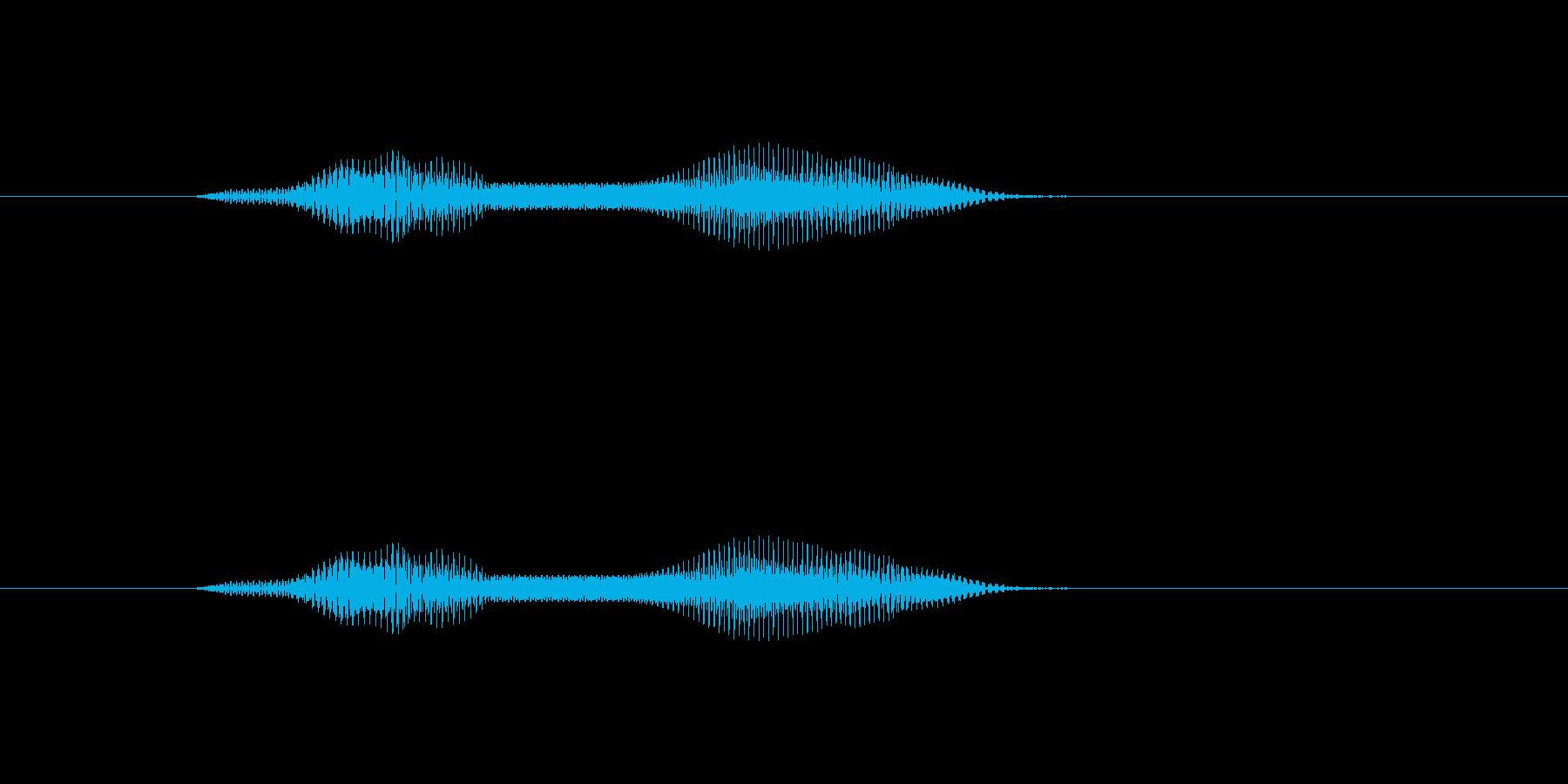もにゅっの再生済みの波形
