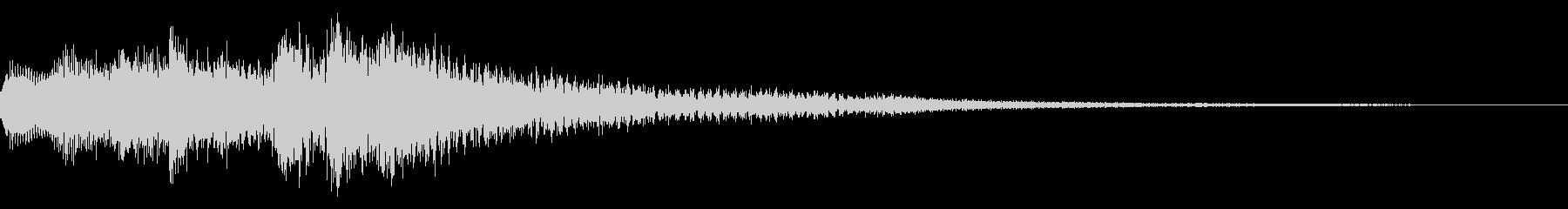 ベル系のミステリアスな音 怪しい 不安の未再生の波形