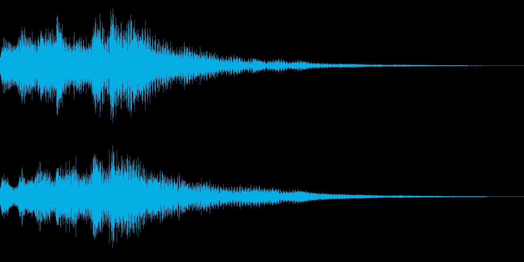 ベル系のミステリアスな音 怪しい 不安の再生済みの波形