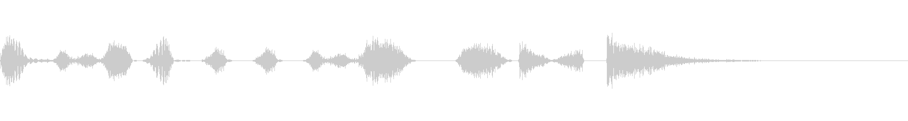 DJのスクラッチ フレーズの未再生の波形