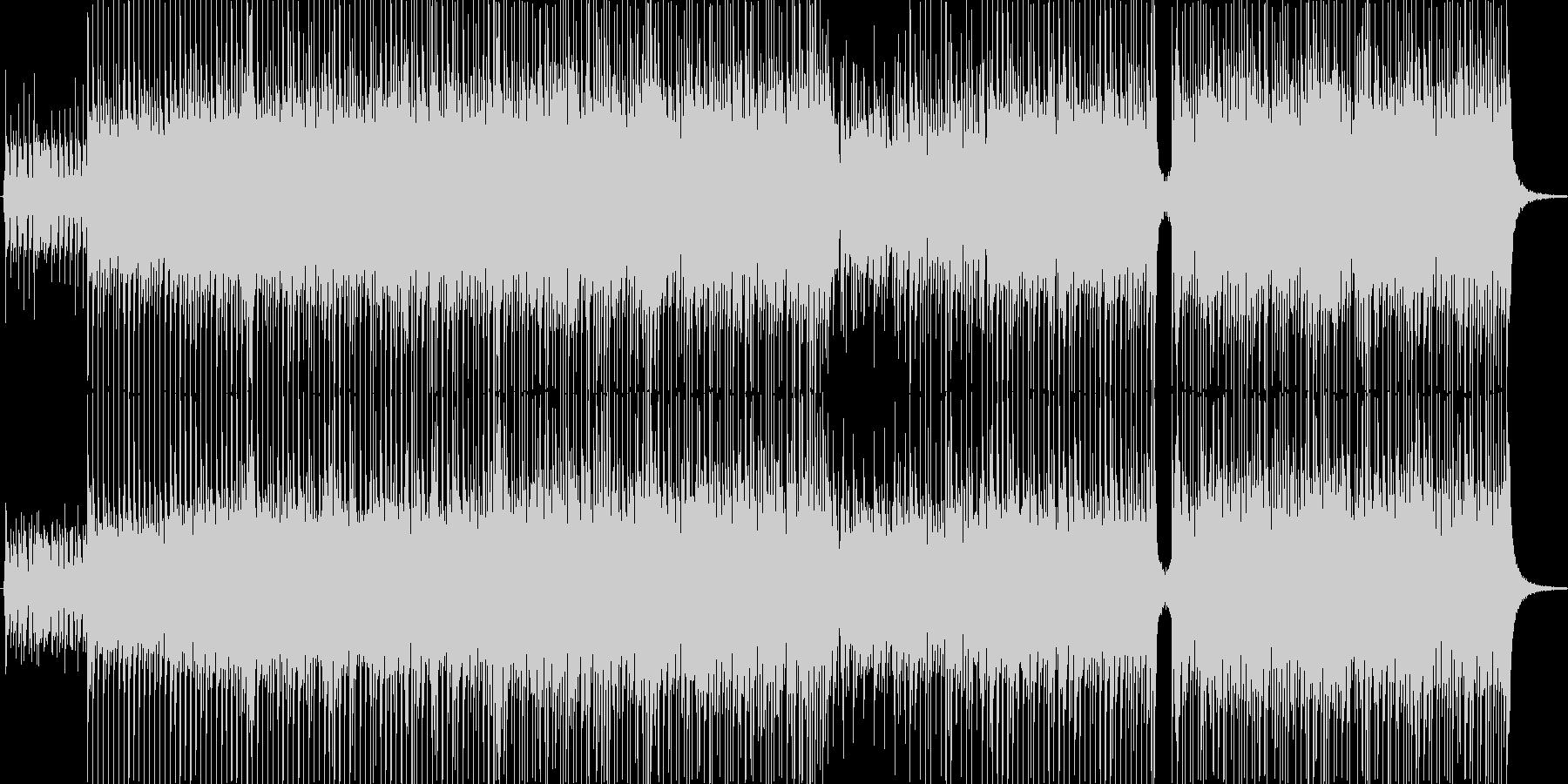 キャッチー、ギター、ロック、CM向けの未再生の波形