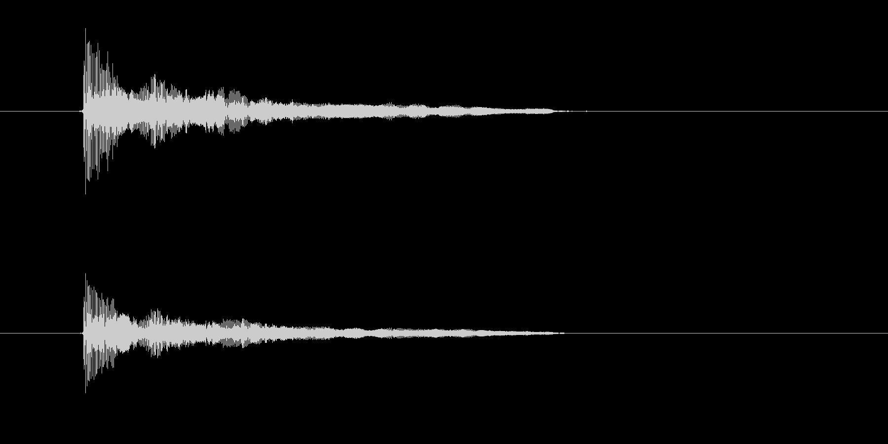 ビヨヨーン(ゆるい振動、脱力感)の未再生の波形