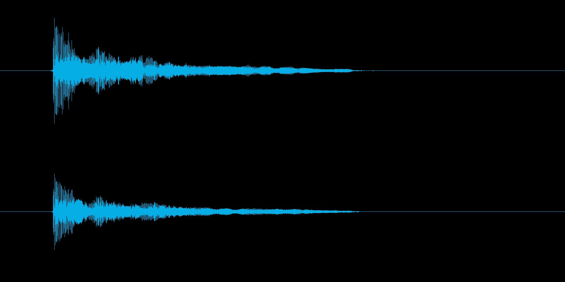 ビヨヨーン(ゆるい振動、脱力感)の再生済みの波形