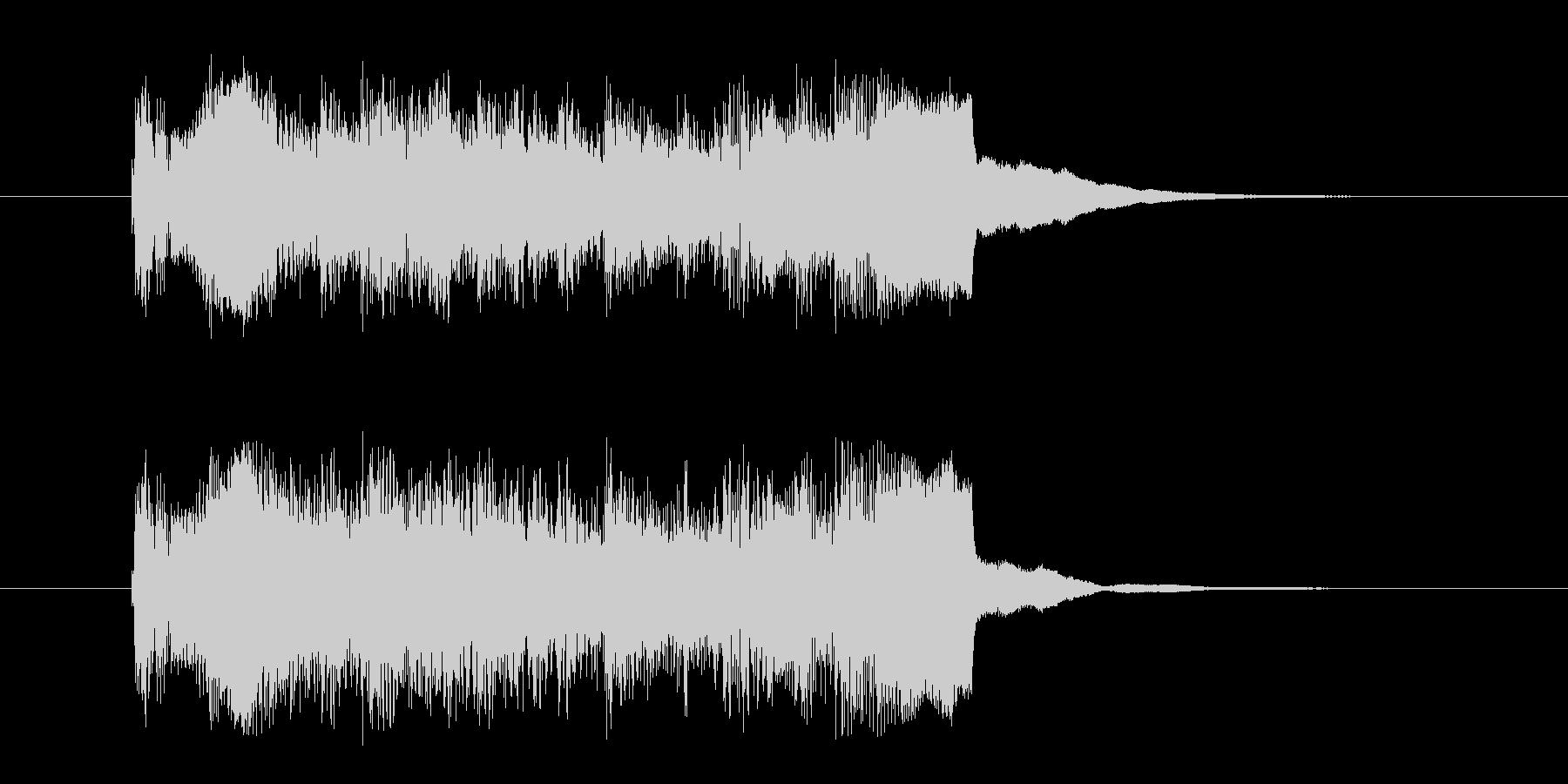 コーナー・アタック風沖縄民謡の曲の未再生の波形