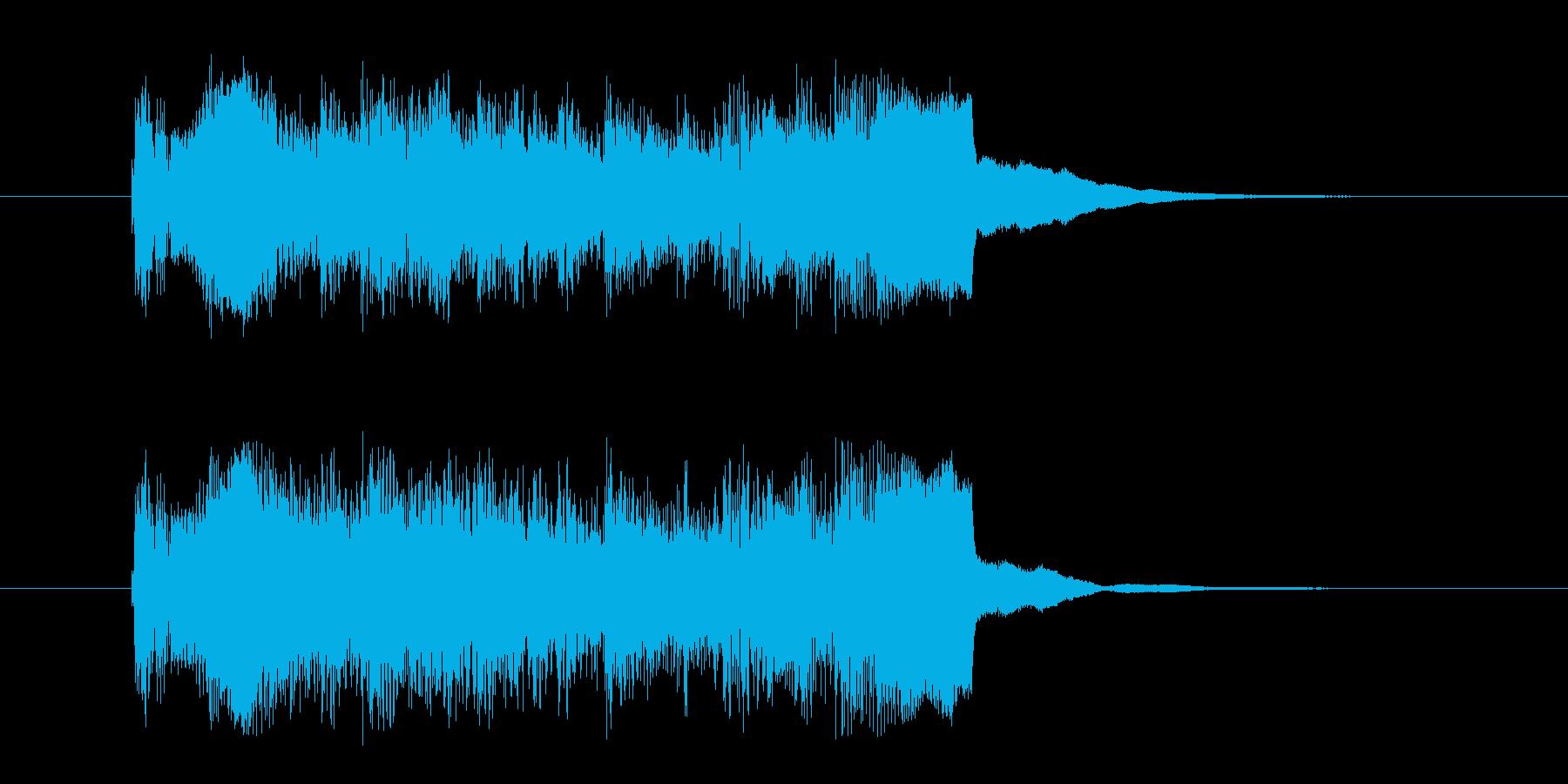 コーナー・アタック風沖縄民謡の曲の再生済みの波形