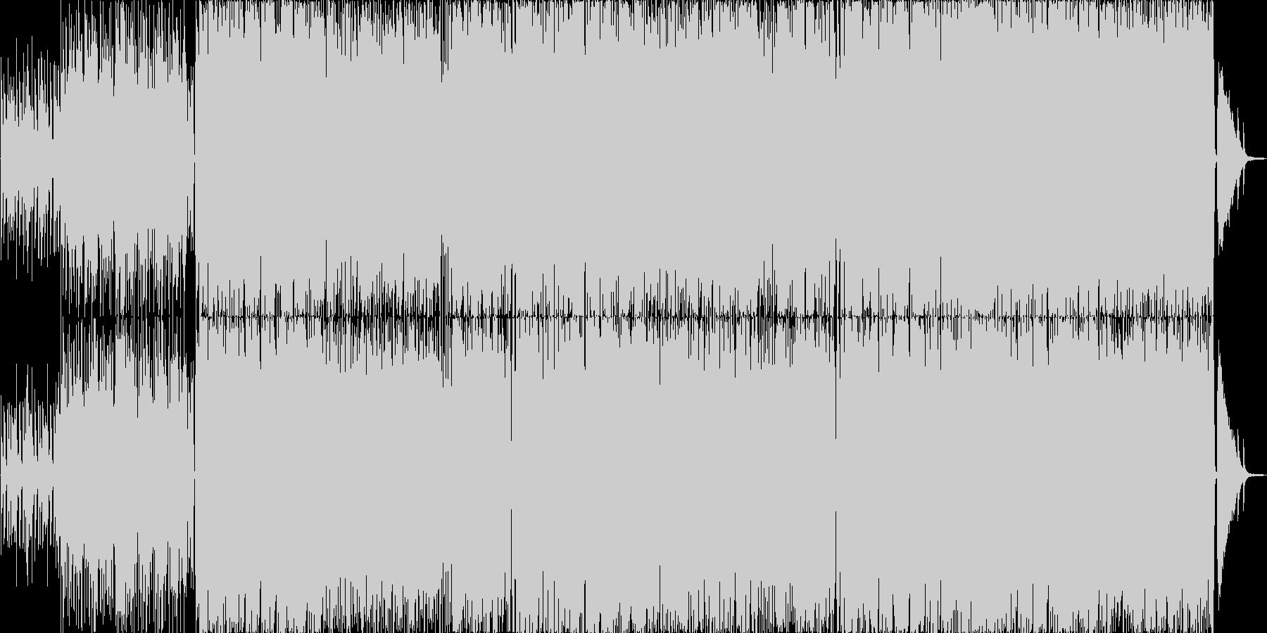 男女混声の軽快で可愛らしいポップスの未再生の波形