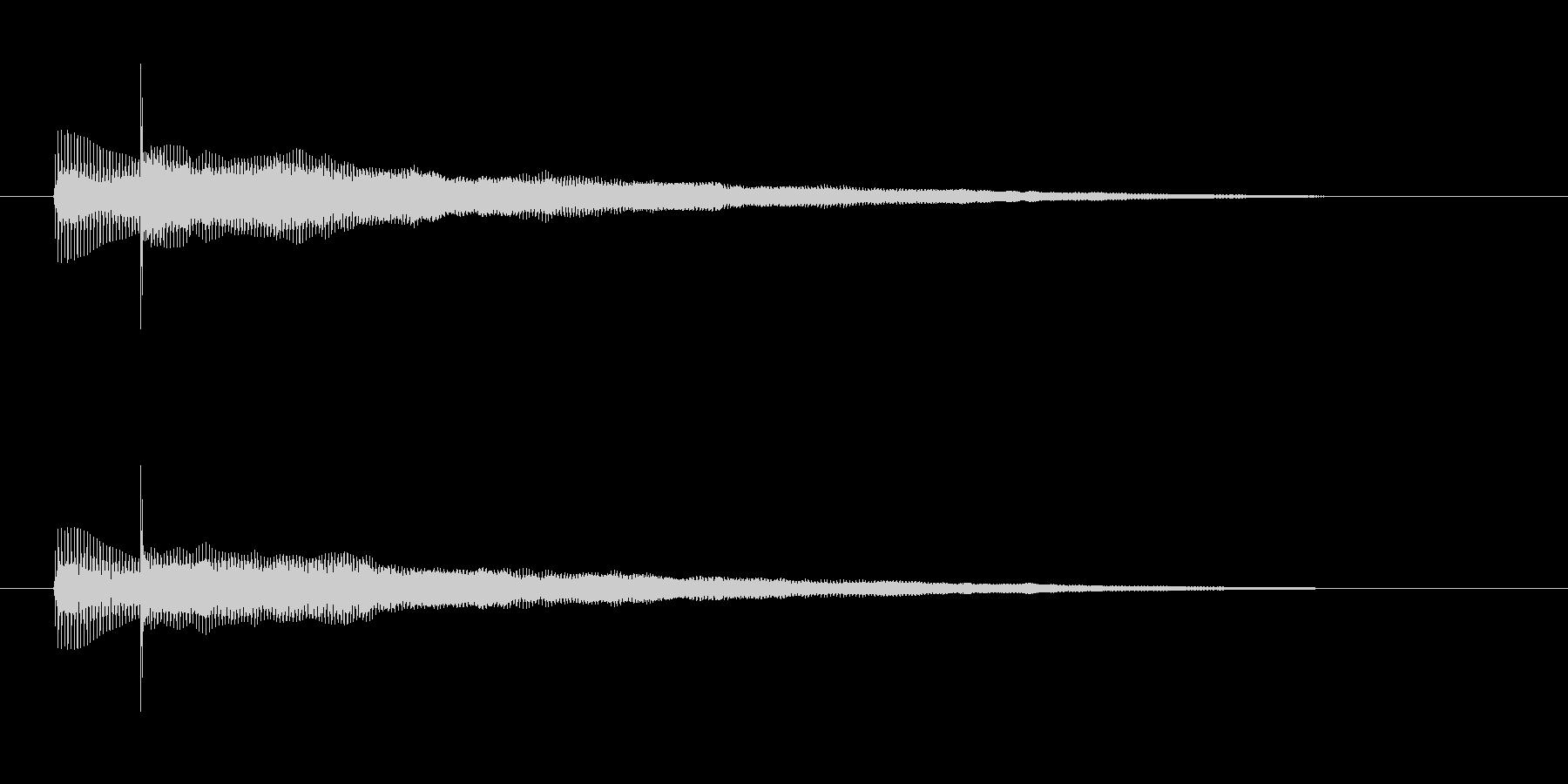 ベースとギターのハーモニクス音の未再生の波形