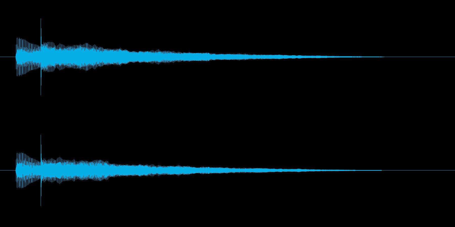 ベースとギターのハーモニクス音の再生済みの波形