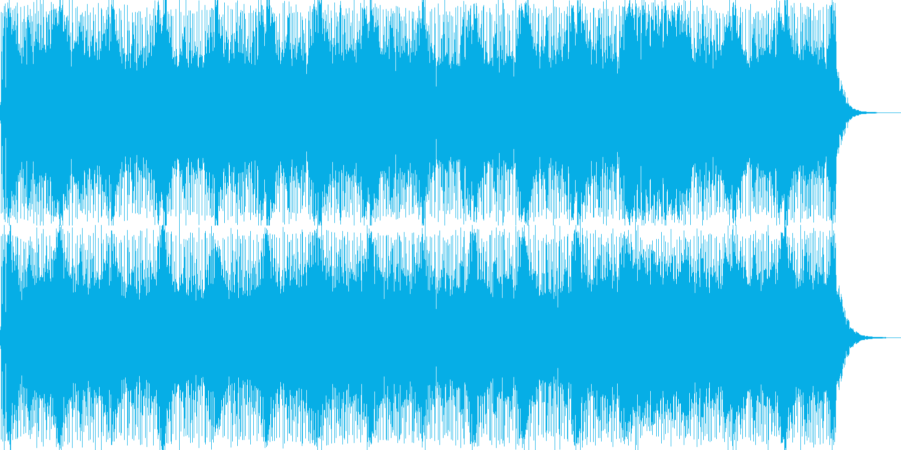 テクノっぽい疾走感ある曲の再生済みの波形